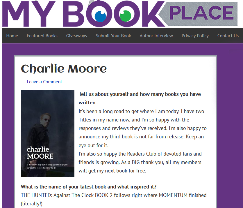 Interview with My Book Place